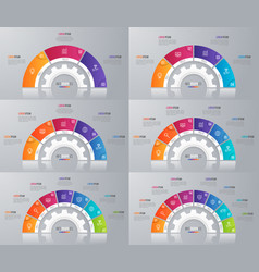 Collection of circle chart templates for vector