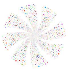 confetti stars fireworks swirl flower vector image