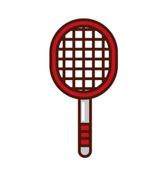 Cute sport racket cartoon vector