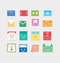Email envelop and bags icons vector