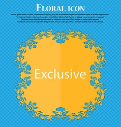Exclusive sign icon special offer symbol floral vector