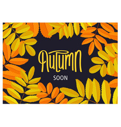 Floral autumn poster vector