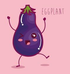 Fresh eggplant vegetable character vector