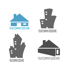Home and building contruction logo compilation vector
