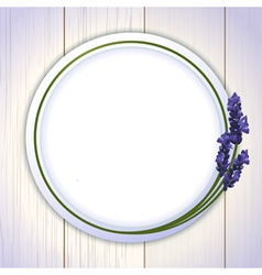 Lavender Framed Mirror background vector image vector image
