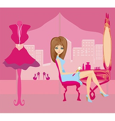 make up at home vector image