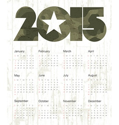 military calendar 2015 vector image vector image