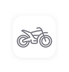 offroad bike line icon motorcycle vector image vector image