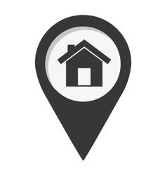 Pin marker location icon vector