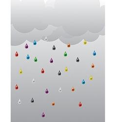 rain 01 vector image vector image