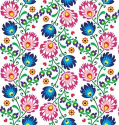 Seamless folk Polish pattern - wzor lowicki vector image vector image