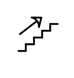 stairs up icon vector image