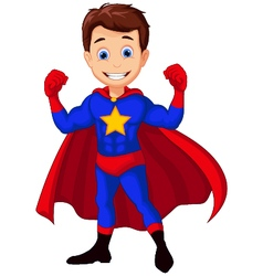 superhero cartoon for you design vector image