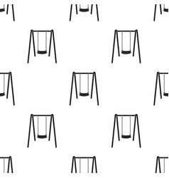 swing seat icon in black style isolated on white vector image vector image