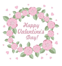 Valentines day flower ring vector
