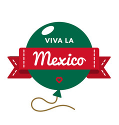 viva la mexico greeting emblem vector image vector image