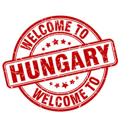 welcome to hungary vector image vector image