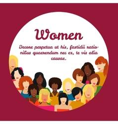 Woman concept vector image vector image