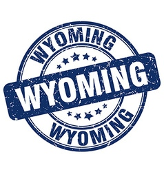 Wyoming stamp vector