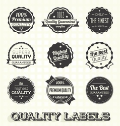 Vintage Premium Quality Labels vector image