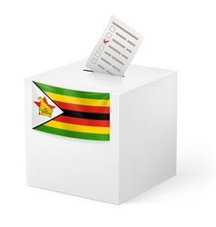 Ballot box with voting paper zimbabwe vector