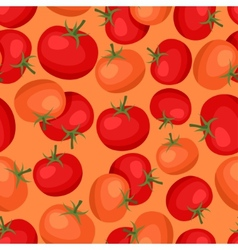 Seamless pattern with fresh ripe tomatoes vector image