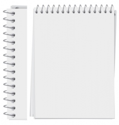 Notepad page vector