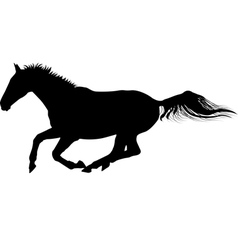Galloping horse silhouette vector