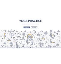 Yoga doodle concept vector