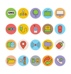 Networking and communication icons 2 vector