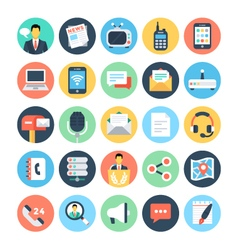 Communication flat icons 1 vector