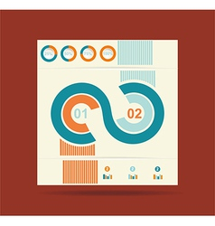 Advertising brochure design template vector image vector image