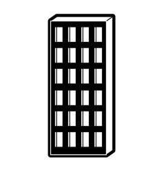 apartment building icon black silhouette vector image