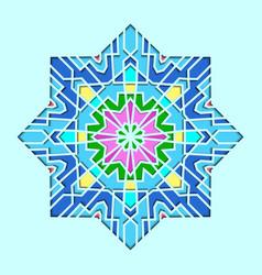 arabesque pattern vignette in eastern style vector image vector image