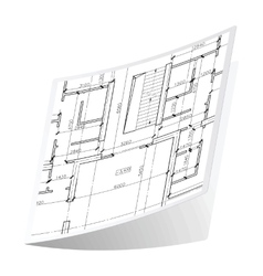 Architecture plan sticker 2 vector