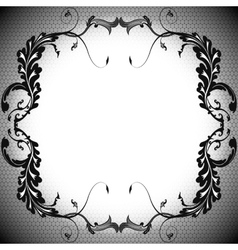 Background frame vintage black branches and the vector image