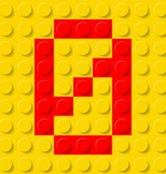 Building kit of plastic font 36 vector