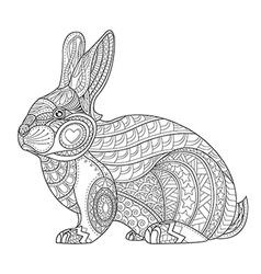 Coloring Page rabbit vector image vector image