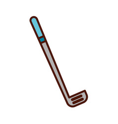 Cute grey golf club cartoon vector