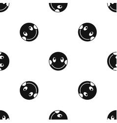 Embarrassed emotpattern seamless black vector