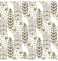 Ethnic seamless pattern with stylish trees vector