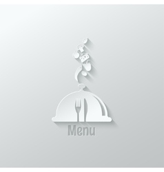 food menu paper cut design background vector image vector image
