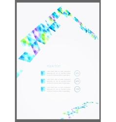 geometric flyer template vector image