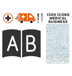 Handbook icon with 1300 medical business icons vector