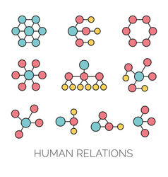 Human relations simple charts vector