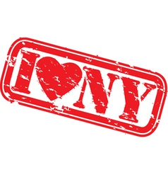 I love New York stamp vector image vector image