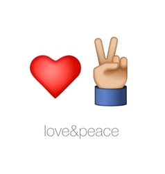 Love and peace icons vector image vector image