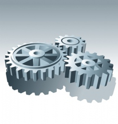 metal operation gears vector image