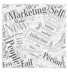 Mlm marketing word cloud concept vector