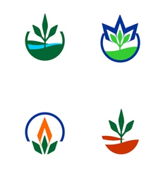 Organic and welfare logo vector image